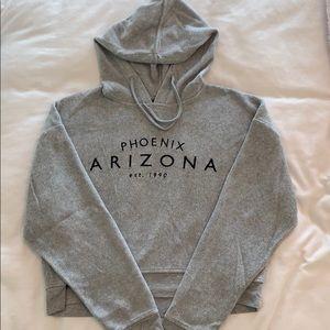 Topshop ultra soft grey fleece hoodie Size 6
